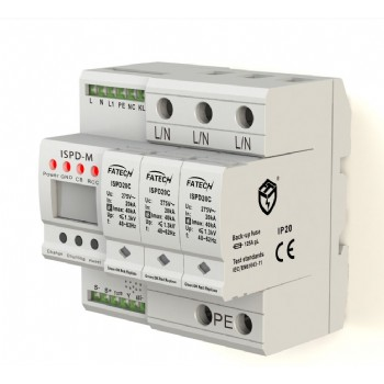 3 poles intelligent surge protector