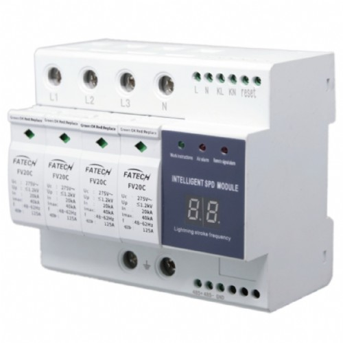 Compact intelligent surge protection device