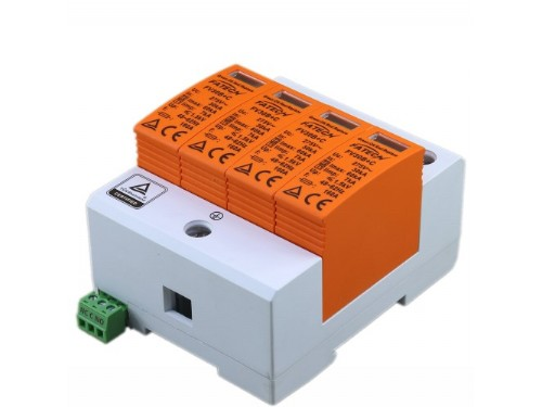 TUV certified type 1+2 60kA 3 phase lightning and surge arrester